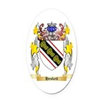 Heskett Oval Car Magnet
