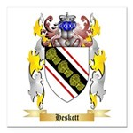 Heskett Square Car Magnet 3