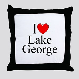 """I Love Lake George"" Throw Pillow"