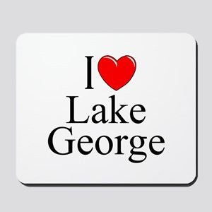 """I Love Lake George"" Mousepad"