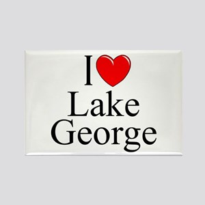 """I Love Lake George"" Rectangle Magnet"