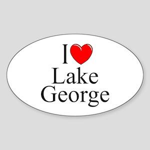 """I Love Lake George"" Oval Sticker"