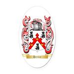 Hervie Oval Car Magnet