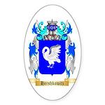Hershkowitz Sticker (Oval 50 pk)