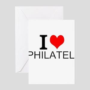 I Love Philately Greeting Cards