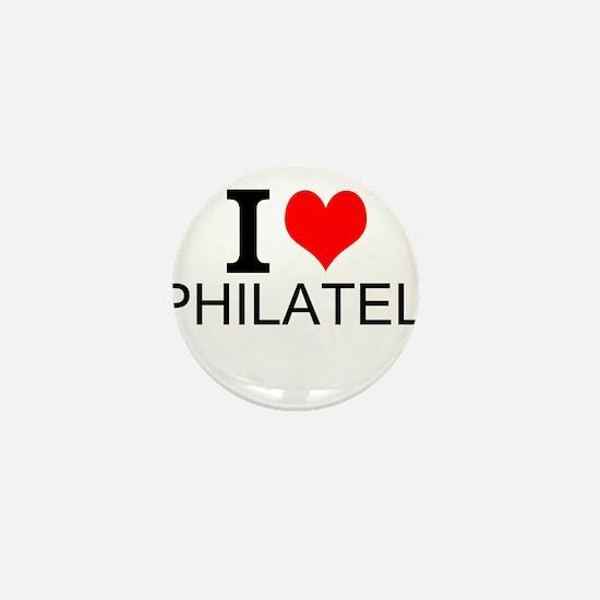 I Love Philately Mini Button