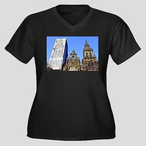 Cathedral of Santiago de Compost Plus Size T-Shirt