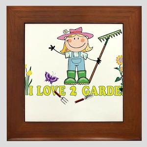 Light Girl Farmer blonde I LOVE 2 GARD Framed Tile
