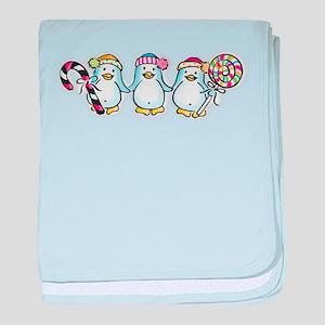 penguintrio1 baby blanket