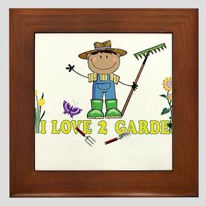 Dark Guy Farmer I LOVE 2 GARDEN Framed Tile