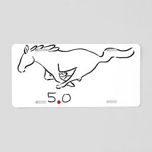 running pony 5.0 Aluminum License Plate
