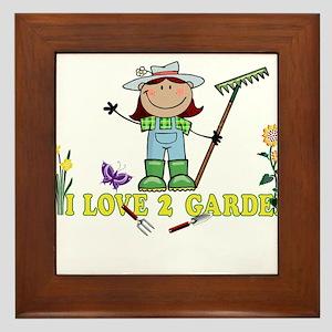 Dark Girl Farmer I LOVE 2 GARDEN Framed Tile