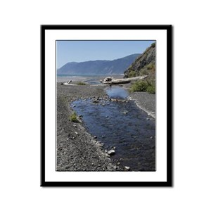 Shelter Cove Beach Framed Panel Print