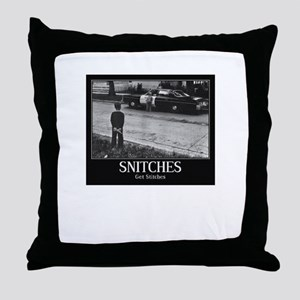 Snitches Throw Pillow