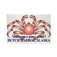 King Crab Dutch Rectangle Magnet