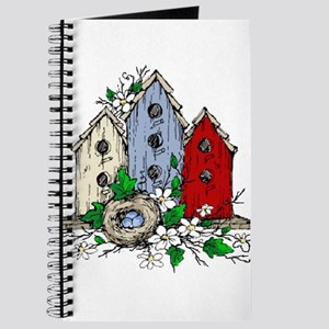 Three Birdhouses and a Nest copy Journal