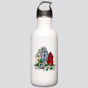 Three Birdhouses and a Stainless Water Bottle 1.0L