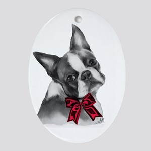 Boston Terrier Ornament (Oval)