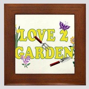 LOVE 2 GARDEN Graphic Framed Tile