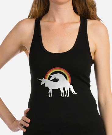 Afternoon Delight, Gay Unicorn Racerback Tank Top