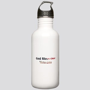 God Bless Our Veterans Water Bottle