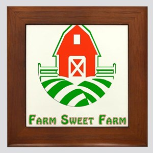 Farm Sweet Farm with Type Framed Tile