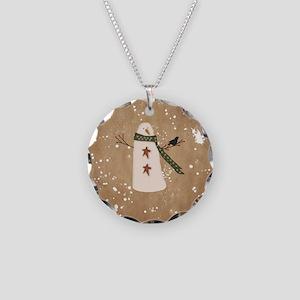 Primitive Snowman Necklace