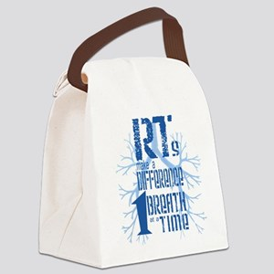 RT-Difference-blue Canvas Lunch Bag