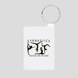 Gymnastics Reaching For Th Aluminum Photo Keychain