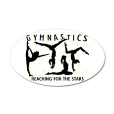 Gymnastics Reaching For The Wall Sticker