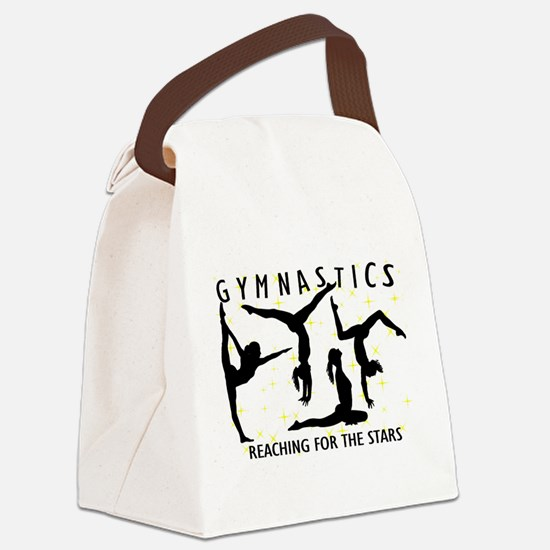 Gymnastics Reaching For The Stars Canvas Lunch Bag