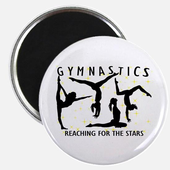 """Gymnastics Reaching For Th 2.25"""" Magnet (100 pack)"""