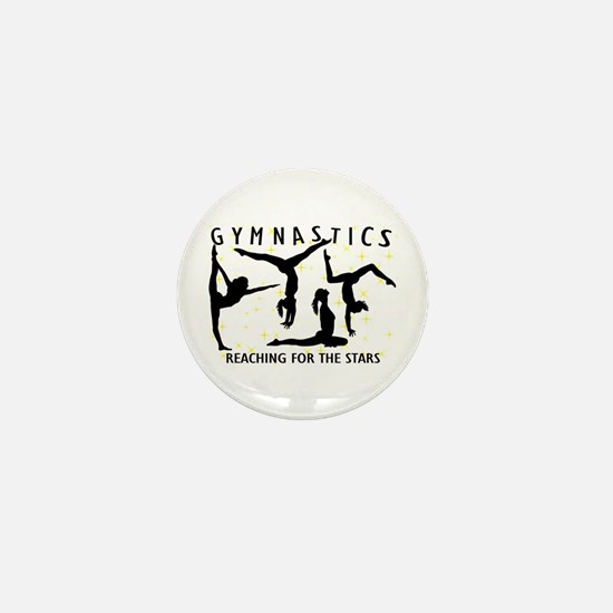 Gymnastics Reaching For The Stars Mini Button