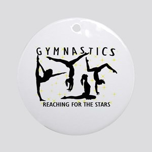 Gymnastics Reaching For The Stars Ornament (Round)