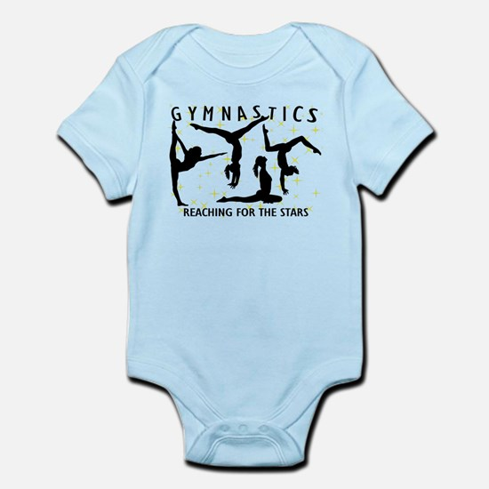 Gymnastics Reaching For The Stars Infant Bodysuit