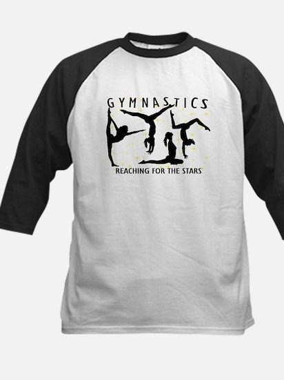 Gymnastics Reaching For The S Kids Baseball Jersey