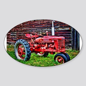 Red Tractor HDR Style Sticker