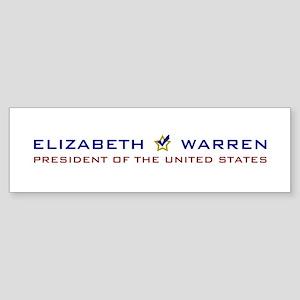Elizabeth Warren President USA V2 Sticker (Bumper)
