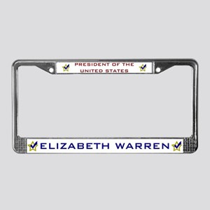 Elizabeth Warren President USA License Plate Frame