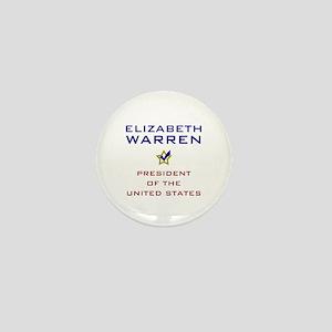 Elizabeth Warren President USA V2 Mini Button