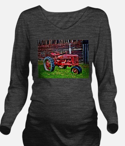 Red Tractor HDR Styl Long Sleeve Maternity T-Shirt