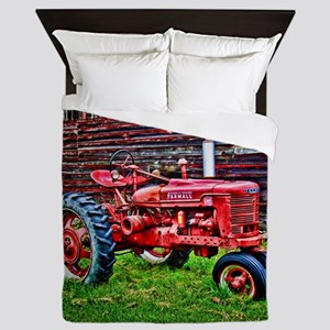 Red Tractor HDR Style Queen Duvet