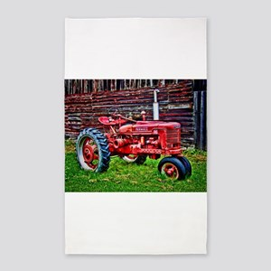 Red Tractor HDR Style Area Rug