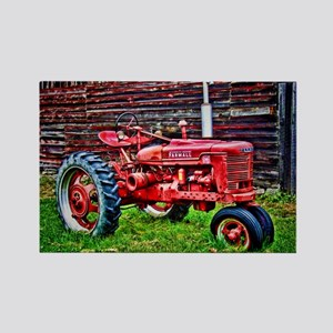 Red Tractor HDR Style Magnets