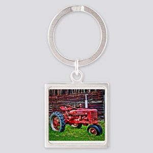 Red Tractor HDR Style Keychains