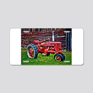 Red Tractor HDR Style Aluminum License Plate