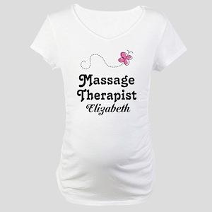 Massage Therapist Personalized Maternity T-Shirt