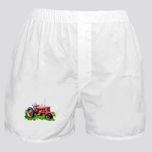Red Tractor in the Grass Boxer Shorts