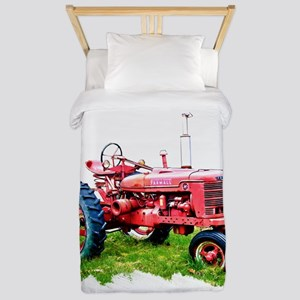 Red Tractor in the Grass Twin Duvet