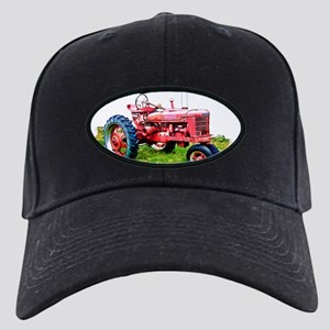 Red Tractor in the Grass Black Cap